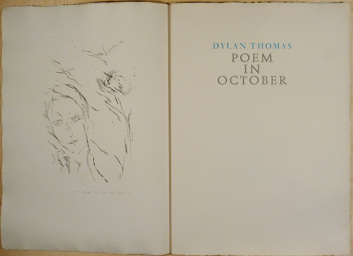 Ernesto Treccani, Dylan Thomas, Poem in october