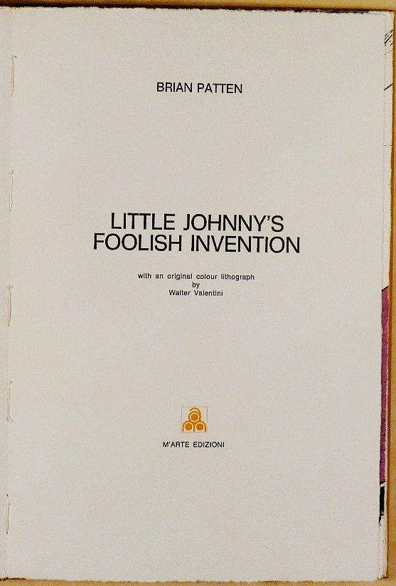 Walter Valentini, Little Johnny s Foolish Invention, Frontespizio
